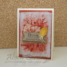 Gothdove Designs - Alison Barclay - Stampin' Up! Australia - Stampin' Up! French Foliage #thanksgiving #thankyou #stampinup #gothdovedesigns #stampinupaustralia