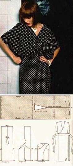 El patrón del vestido con el olor   WomaNew.ru - las lecciones del corte y la costura