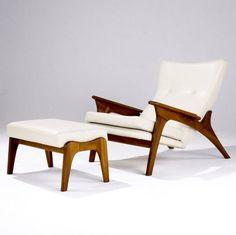 Adrian Pearsall chair & ottoman