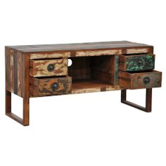 'Mullin' Reclaimed Wood TV Stand | Overstock.com Shopping - The Best Deals on Entertainment Centers