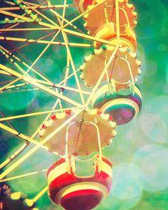 Nursery Art Better Homes circus photo nursery print vintage ferris wheel emerald green print barcelona wall art by bomobob Tibidabo Vintage Carnival, Vintage Circus, Nursery Prints, Nursery Art, Parc A Theme, Circo Vintage, Carrousel, Yellow Nursery, Carnival Rides