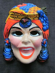 VINTAGE FIESTA QUEEN BEN COOPER HALLOWEEN COSTUME AND MASK