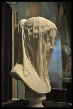 The Veiled Virgin is statue carved by Italian sculptor Giovanni Strazza depicting the bust of a veiled Blessed Virgin Mary. This statue was execute Statue Ange, Italian Sculptors, Photographie Portrait Inspiration, Renaissance Art, Aesthetic Art, Art And Architecture, Oeuvre D'art, Art History, Sculpting