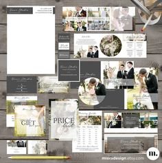 Photography Marketing Kit / Set - Photoshop Template for Photographers - INSTANT DOWNLOAD - MK005