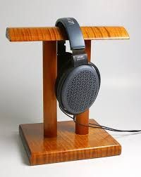 Image result for headphone holder wooden