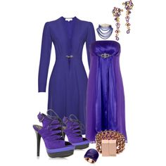 Blue/Purple, created by nikki-kersey on Polyvore