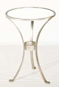 Three-Leg Round Table in Silver. Product in photo is from www.wellappointedhouse.com