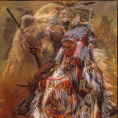 Native American, Fun with photos, trick to it.,