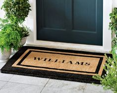 I love the Personalized Picture Frame Coir Doormat on Williams-Sonoma.com