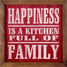 Happiness Kitchen Wall Art