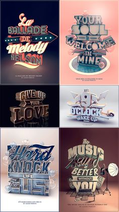great typography designs out there and we have collected some of the best among them. We are presenting 32 Absolutely Inspiring Examples of Typography. Go ahead and have a look! Creative Typography Design, Typo Design, Dog Design, Design Web, 3d Alphabet, Typography Drawing, Typography Poster, Typography Inspiration, Graphic Design Inspiration