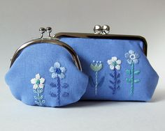 Embroidery Purse, Embroidery Patterns Free, Crewel Embroidery, Lace Purse, Diy Purse, Leather Bag Pattern, Handmade Clutch, Cross Stitch Baby, Cute Bags