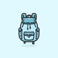 from @raffaele.nicoletta -  Big Blue Backpack.  #illustrator #illustration #adobe #adobeillustrator #vector #digital #digitalart #art #graphicdesign #graphic #design #designer #logo #icon #icona #vintage #firstdate #adventure #accessories #clothing #big #blue #backpack #vaniladesign