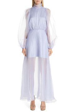 Beaufille Europa Silk-organza Maxi Dress In Lilac Beautiful Maxi Dresses, Elegant Dresses, Formal Dresses, Silk Organza, Ruffle Dress, Ruffles, Nordstrom Dresses, Designer Dresses, Style
