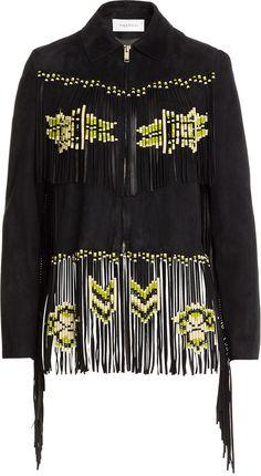 f65d349472f Valentino Fringed Suede Jacket Boho Festival Fashion, Festival Style,  Tailored Jacket, Suede Jacket