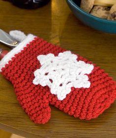 Make into a garland advent calendar for Christmas 2012- http://www.coatsandclark.com/Crafts/Crochet/Projects/Seasonal/WR1745+Crochet+Snowflake+Mitten+Ornaments.htm