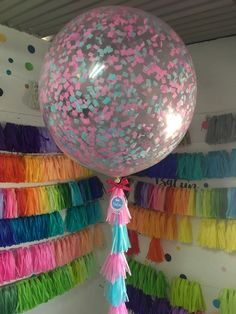 Blue and pink! 36 Inch Balloons, Giant Balloons, Ballon Decorations, Holidays And Events, Christmas Bulbs, Party Stuff, Holiday Decor, Birthday, Creative