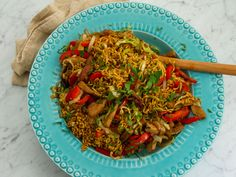 Teriyakiwok med fläskfilé, paprika och savojkål | Recept från Köket.se Asian Recipes, Ethnic Recipes, Happy Foods, Japchae, Love Food, Tapas, Pasta, Lunch, Snacks
