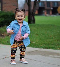 Aztec Print Baby Clothes - Orange & Black