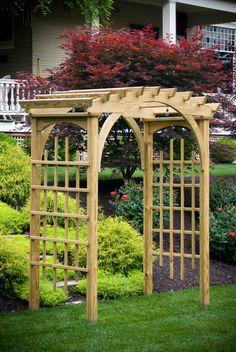 3' x 6' Roman Arch Arbor