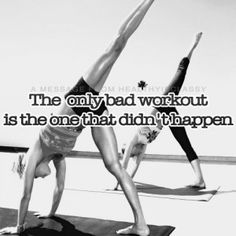 Remember this on those days you don't want to workout!