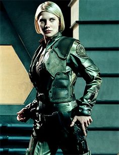 Katee Sackhoff as Kara Thrace (Angel or ?) from TV Series 'Battlestar Galactica'-------So Say We All-------