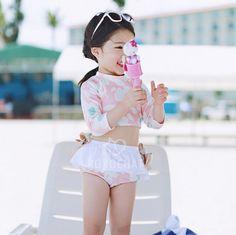Aliexpress.com: Comprar Niños que nadan ropa lindo florales niñas bebés niñas traje de baño traje de baño hecho niños trajes de baño para las muchachas de traje de baño de fondo fiable proveedores en Baby Love House