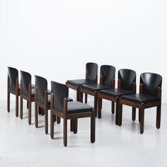 Silvio Coppola 330 Italian leather Chair 1960s. 8 Available