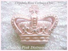 Shabby Chic Wall Crown French Decor Cross Fleur De Lis 28 Paint Color / Finish Options Photo Prop Nursery / Girls Room  Pink Princess Decor by sweetlilboutique on Etsy https://www.etsy.com/listing/160990882/shabby-chic-wall-crown-french-decor