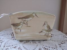 Purse Cosmetic Bag Zipper Clutch Seaside by Antiquebasketlady, $13.00