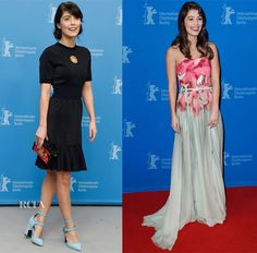 Alessandra Mastronardi In Louis Vuitton  & Elie Saab – 'Life' Berlin Film Festival Photocall & Premiere
