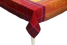 Printed Olives Tablecloth, Red on OneKingsLane.com