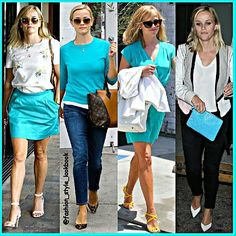 REESE WITHERSPOON IS  MINT OBSESSED#reesewitherspoon #mint #neon #dress #blonde #sandals #bag #style #fashion #instastyle #pretty #wow #instafashion #beautiful #ootd #hot #skinny #teenager #inspiration #fashionista #fashionicon  #styleicon #perfection #celebrity #streetstyle #hipster #streetfashion #classy #love #weheartit... - Celebrity Fashion