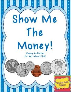 The easy prep and ink friendly printables, games and assessments in this packet are intended to help students in grades master the prerequisite skills needed prior to learning the grade Common Core Reference - Solve word problems involving dollar Money Activities, Classroom Activities, Fun Math, Math Games, Dollar Bills, Second Grade Math, Show Me The Money, Word Problems, Math Lessons