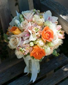 Coral and Tiffany Blue Wedding Flowers at Wine and Roses Lodi, Ca