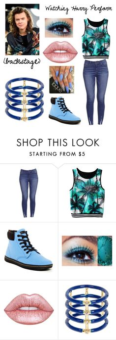 """Watching Harry Perform"" by helloitsme-167 ❤ liked on Polyvore featuring Dr. Martens, Lime Crime and Elizabeth and James"