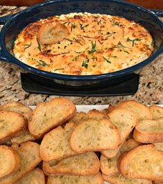 Mom's Baked Ricotta Dip - The Cookin Chicks Great Appetizers, Easy Appetizer Recipes, Appetizer Dips, Dip Recipes, Appetizer Sandwiches, Party Appetizers, Delicious Recipes, Yummy Food, Ricotta Dip