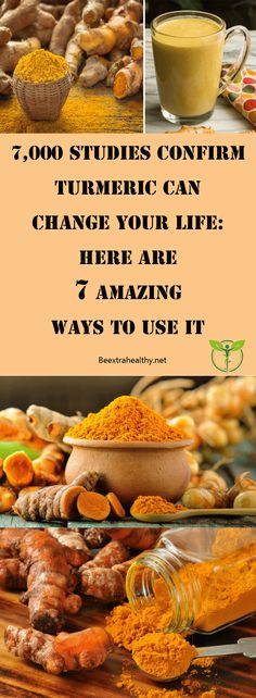 7,000 STUDIES CONFIRM TURMERIC CAN CHANGE YOUR LIFE: HERE ARE 7 AMAZING WAYS TO USE IT - NAMED THE 'GOLDEN SPICE' BECAUSE OF IT'S COLOR, TURMERIC LIVES UP TO THIS TITLE DUE TO ITS HEALTH BENEFITS ALSO.