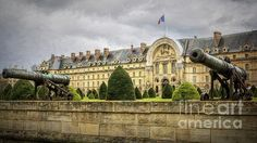 Invalides And Cannon Paris by Joan Carroll