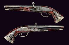 A very scarce pair of wheel-lock pistols by Francesco de Lucia, Italy, ca. 1700