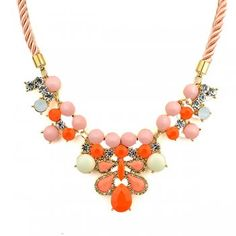 New arrival And romantic Flower Necklace colorful Vintage  Pendant Beads Colares femininos For Women