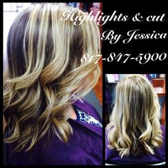 #gorgeous hair by Jessica at #FossilCreek #highlights #lowlights #longbob #beautiful #ombre #sombre #lovely #SalonPurple #teampurple
