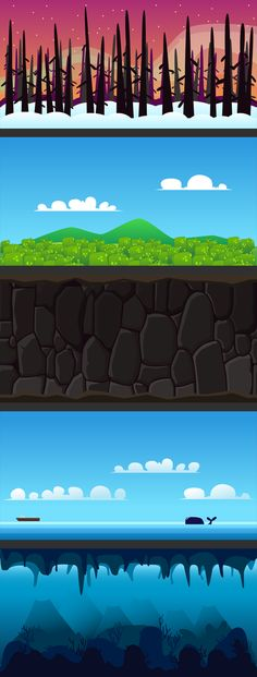 Game Backgrounds #1 on Behance