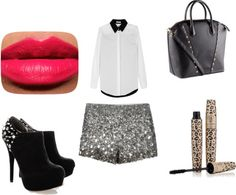 """glitter shorts"" by ilda83 on Polyvore"