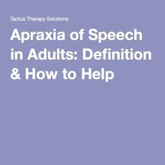 Apraxia of speech is common after a stroke, leaving the patient with impaired communication. Find out what this acquired disorder is all about & what to do. What Is Dementia, Speech Language Pathology, Speech And Language, Aphasia Therapy, Adhd And Autism, Apraxia, Speech Therapy Activities, Learning Disabilities