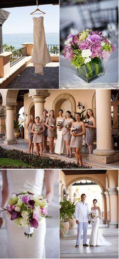 Grey / neutral dresses -- The Sheraton Hacienda del Mar in Cabo San Lucas