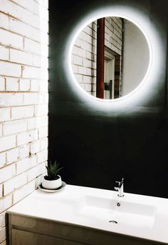 10 amazing backlit mirror images backlit bathroom mirror bathroom rh pinterest com