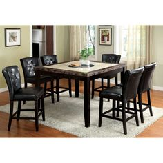 Furniture of America Bellasia 7-piece Counter Height Dining Set