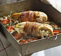 Goat's cheese & thyme stuffed chicken recipe
