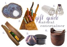 Gift ideas for anyone on your list who loves entertaining and who has a penchant for anything made of or inspired by natural materials.